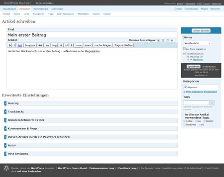 Screenshot MW Adminimize