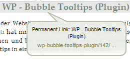 Screenshot BubbleTooltip