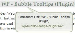 Screenshot BubbleTooltip