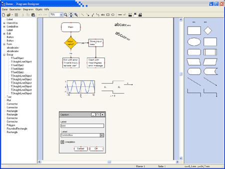 Screenshot Diagramm Designer