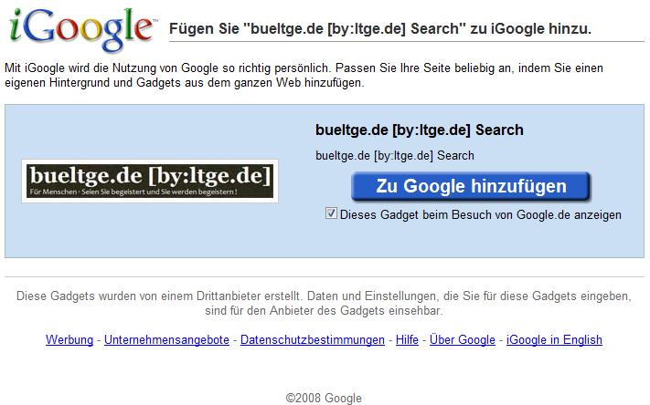 Add iGoogle Gadget