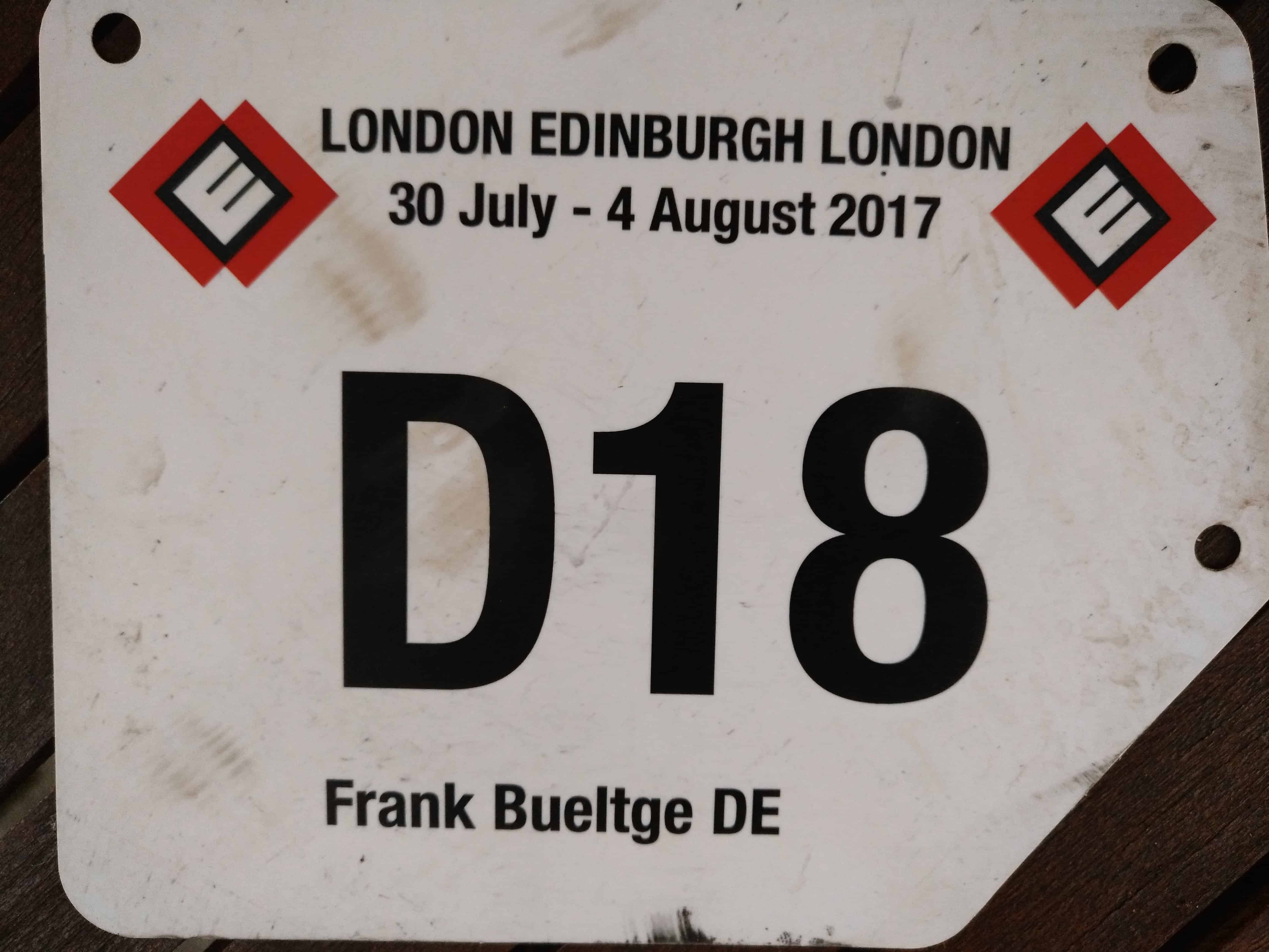 Meine Startnummer bei LEL2017, D18
