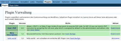 Screenshot WP-Admin Plugin