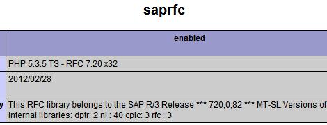 SAPRFC ist aktiv