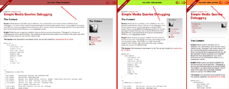 Simple Media Queries Debugge - Screenshot
