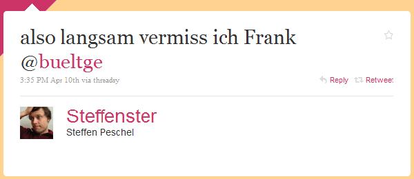 Tweet von Steffenster