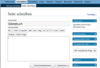 Screenshot Gästebuch anlegen