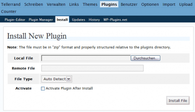 Screenshot Installer-Plugin