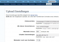 Screenshot WP2.0 incl. Plugins