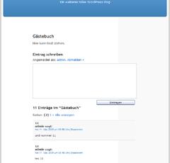 Screenshot GB2 unter WP2.*