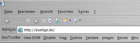 WebDeveloper im IE