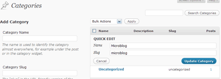 WordPress Kategorie pflegen