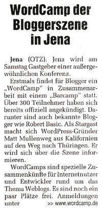 Tageszeitung OTZ 13/02/2009