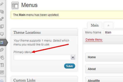 Suche im  WordPress Nav Menu