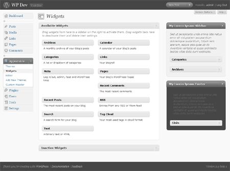 WordPress Widget Bereich