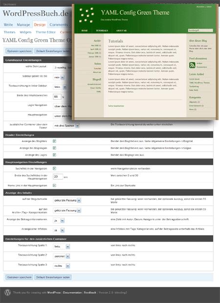 YAML Green Theme für WordPress