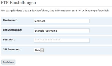 WP 2.5 FTP Daten