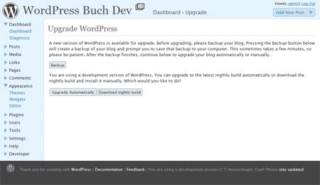 WordPress 2.7 Core Update