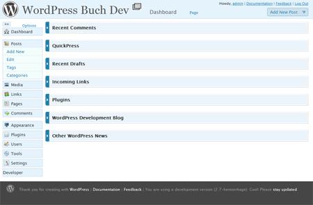 WP 2.7 Backend Design