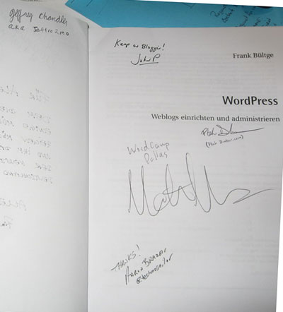 WordPress Buch inkl. Autogramme