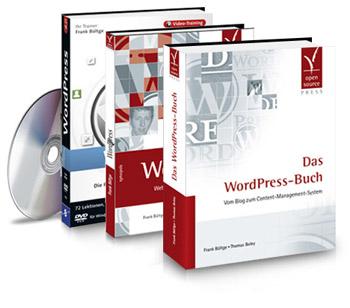 meine WordPress Bücher und DVD